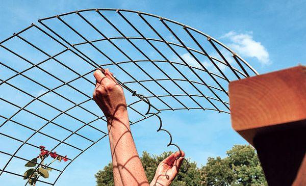 Изготовление металлической арки для растений