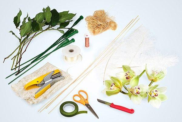 Изготовить букет орхидей можно самостоятельно